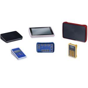 Cajas especiales mando manual y soporte pantallas industriales